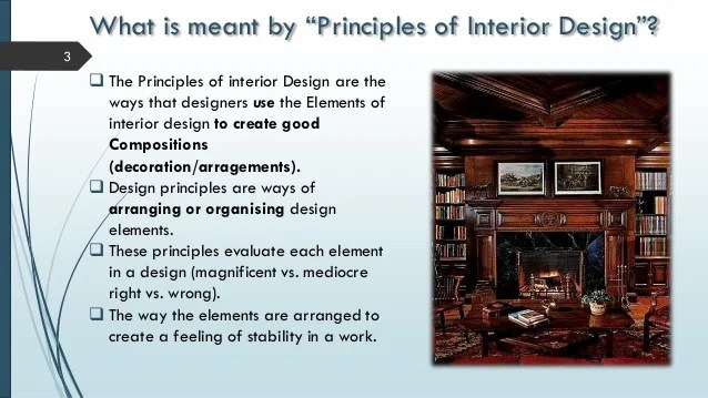 Explain The Principles Of Design : Elements and principles of interior design powerpoint