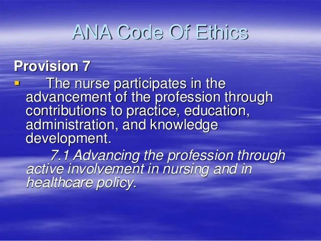 Printable Nursing Code Ethics 2017