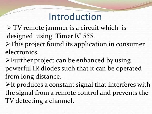 TV Remote Jammer Ppt