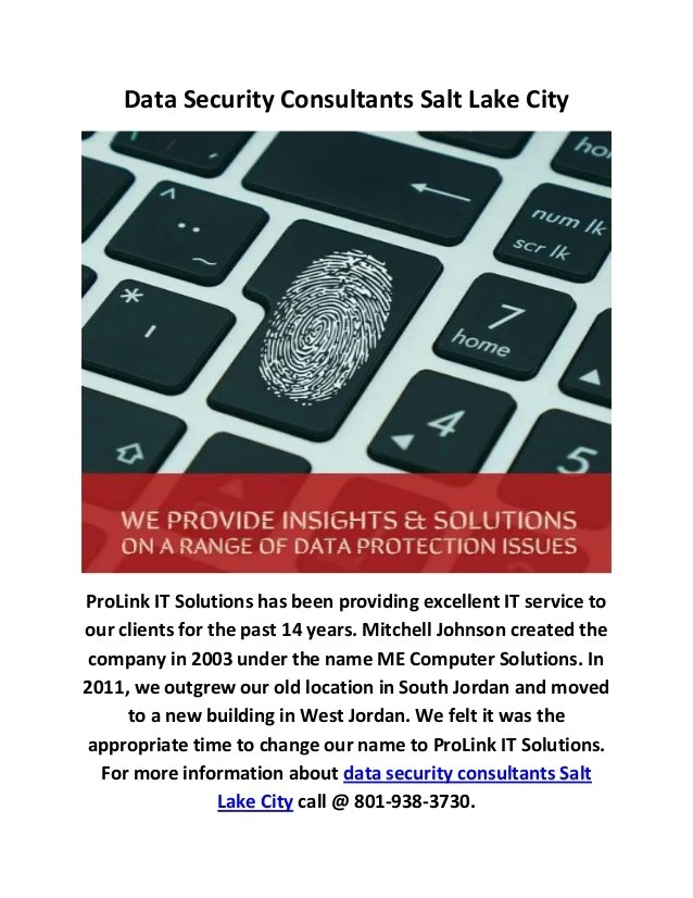 Data Security Consulting