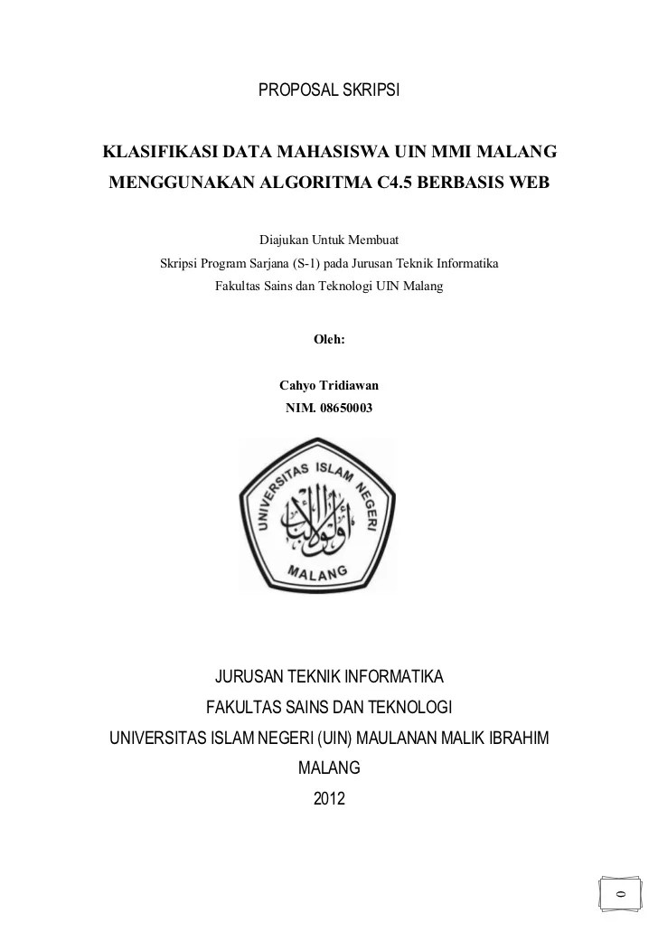Cover Proposal Contoh Penelitian