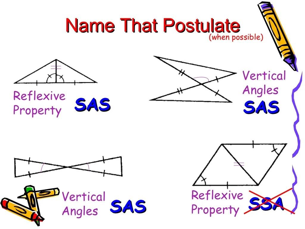 Proving Triangles Congruent Sss Sas Asa