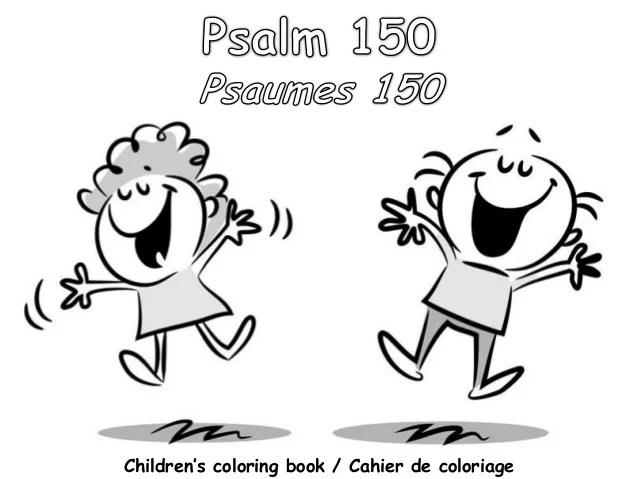Psaumes 150 cahier de coloriage - Psalm 150 coloring book