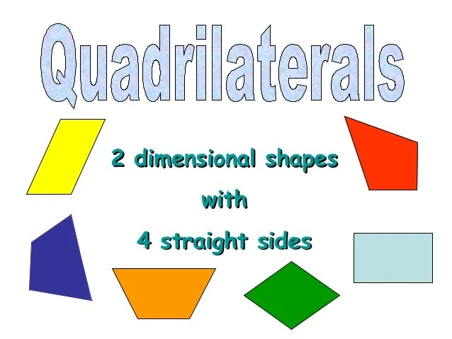 Me Shape Show Quadrilateral