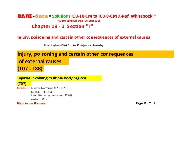 R d = s icd-10-cm to icd-9-cm cross reference whitebook ...