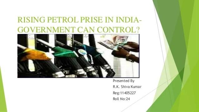 Raising petrol price