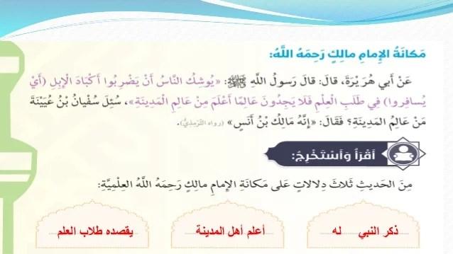 الإمام مالك بن أنس رحمه الله
