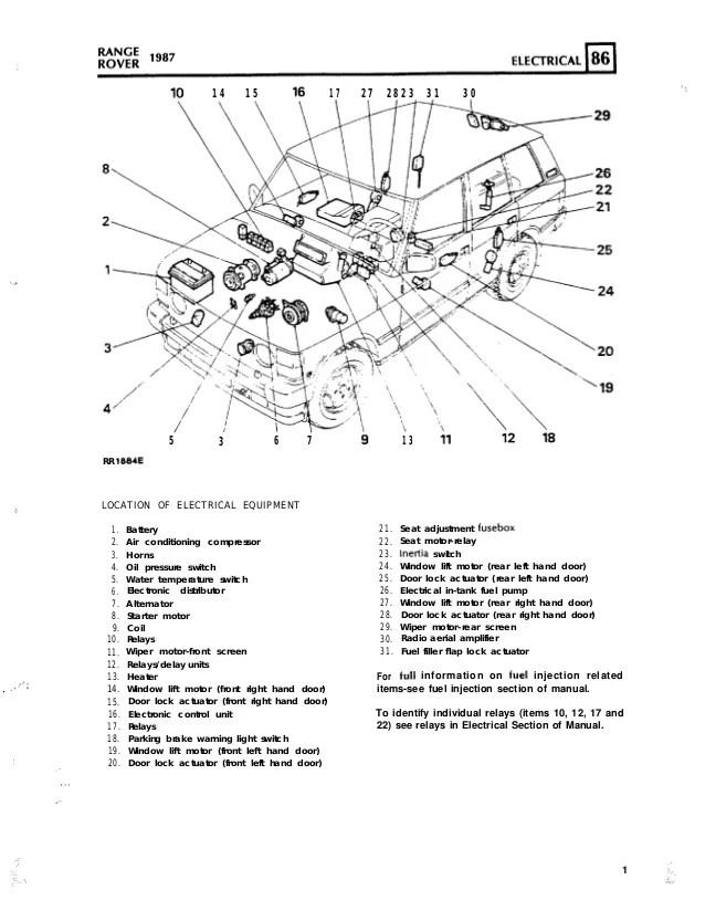 Range Rover Maunual Electrics