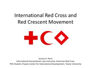 The International Red Cross and Red Crescent Movement Recruitment