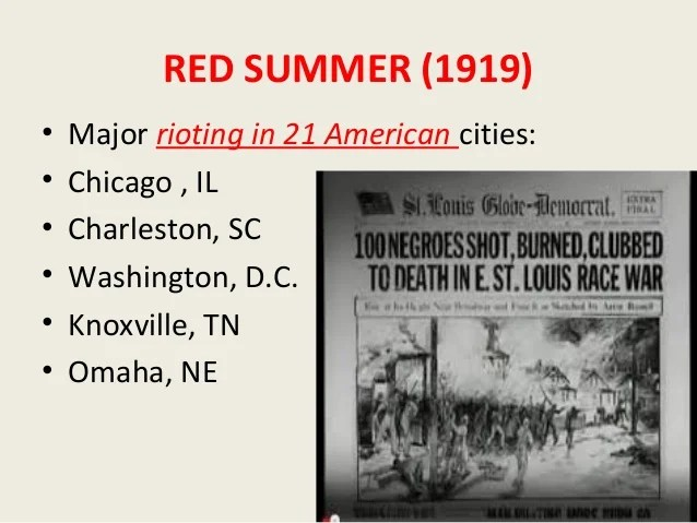 Washington D C Red Summer 1919
