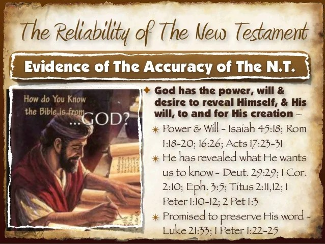 The Reliability Of The New Testament Text