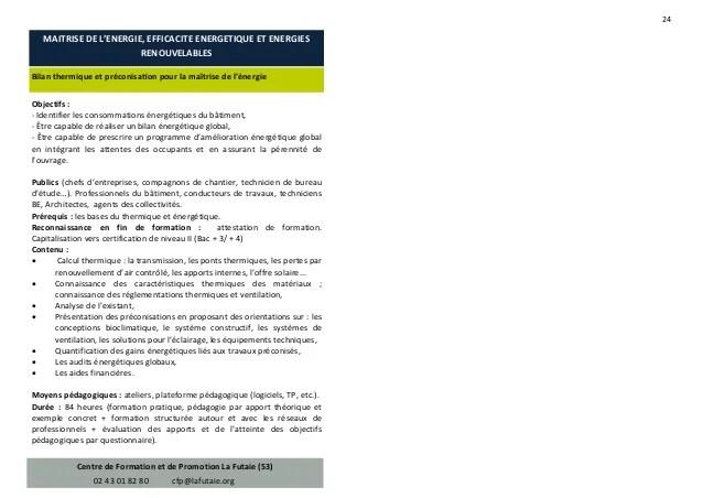 Repertoire Des Formations En Mayenne Sur La Performance