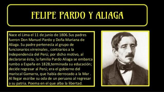Resultado de imagen para Fotos de Felipe Pardo y Aliaga