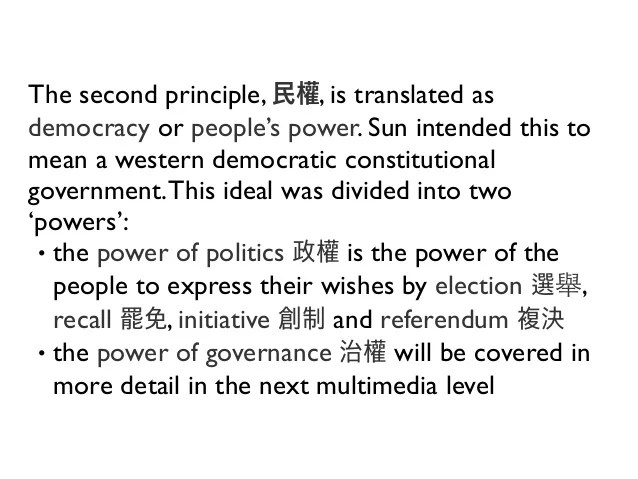 Republic of China - Three Principles of the People