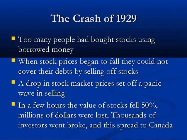 Why Did Stock Market Crash 1929
