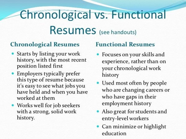 Functional and chronological resume difference