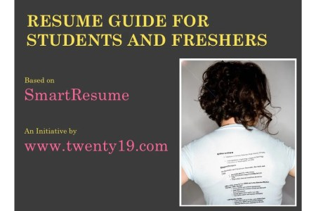 Resume writing for students and freshers RESUME GUIDE FORSTUDENTS AND FRESHERSBased onSmartResumeAn Initiative  bywww twenty19 com
