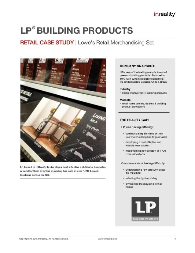 Retail Case Study: LPB-LOWES