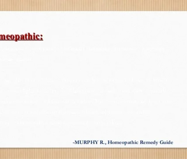 Homeopathic Remedy Guide