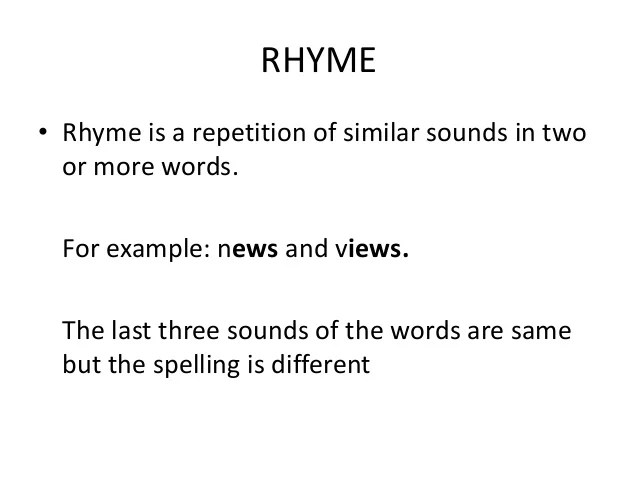 Couplet Examples Rhyming