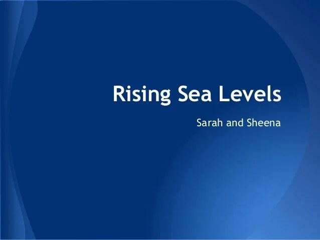 Rising Sea Levels
