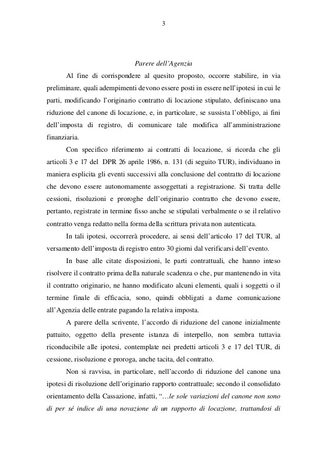 Riduzione Del Canone Di Locazione Risoluzione 60e Agenzia