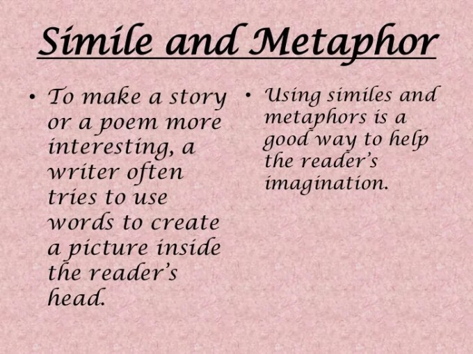 Short Story Poem With Simile Metaphor And Personification