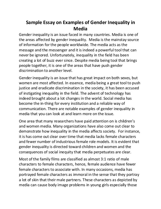 Gender and media essay