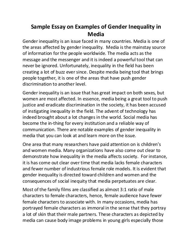 gender and media essay
