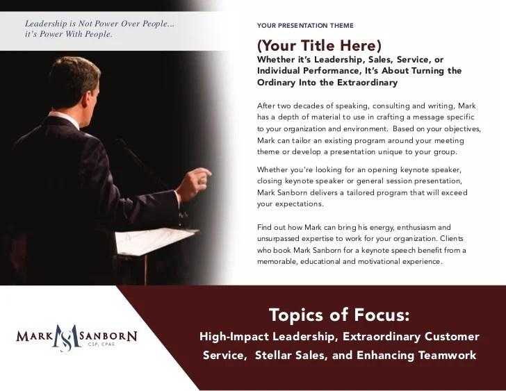 Sanborn speaker-packet   Leadership Keynote Speaker   Top ...
