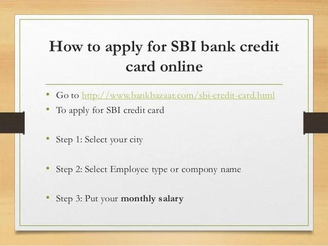 Apply Sbi Credit Card Online