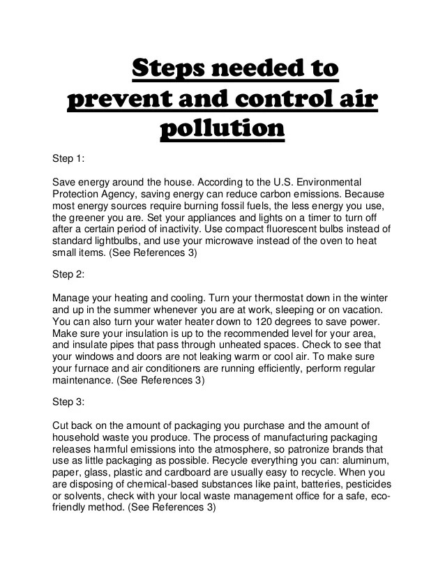 essay on steps to reduce pollution India takes steps to curb air pollution india's air pollution problem needs to be tackled systematically, taking an all-of-government approach, to reduce the huge burden of associated ill-health.