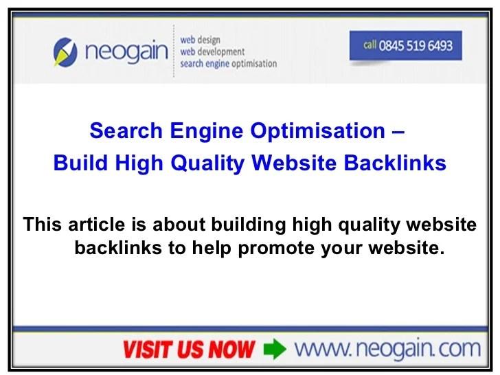 Search Engine Optimisation - Build high quality website ...