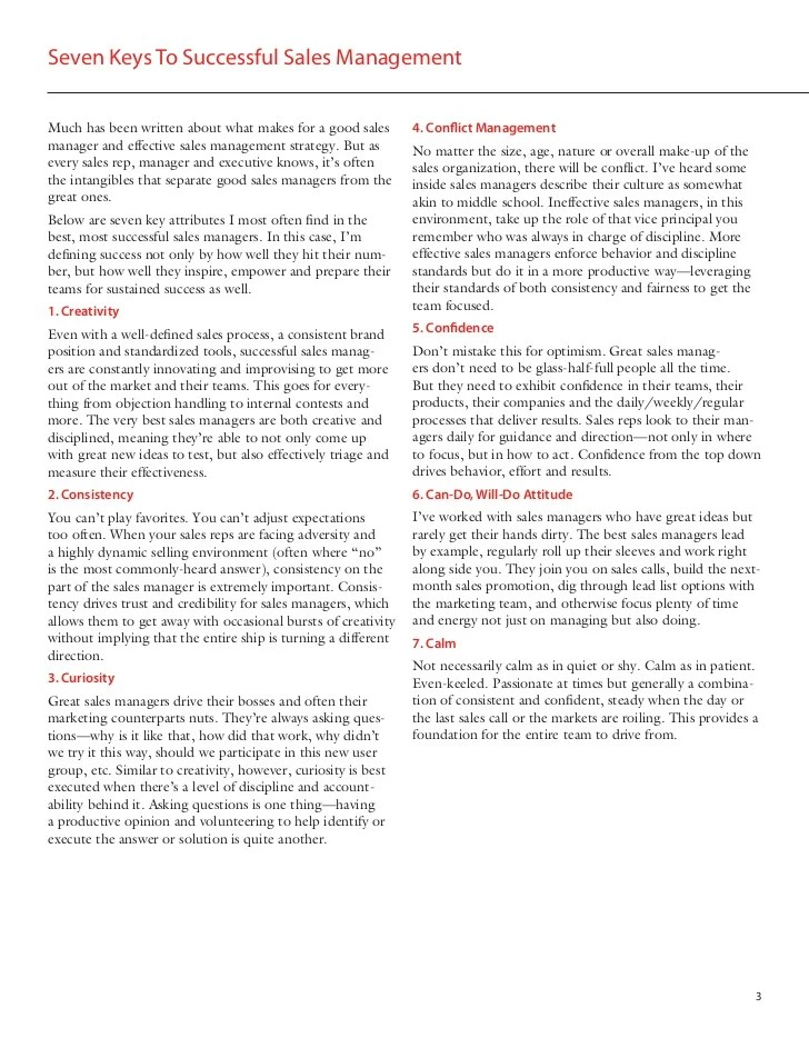 Secrets to Successful Inside Sales Management
