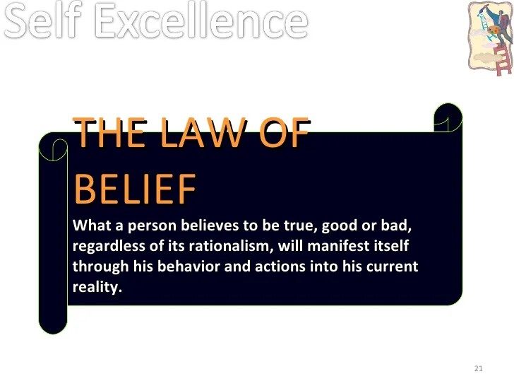 Image result for law of belief