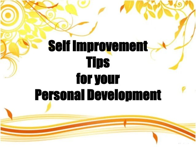 Self Image Improvement Techniques