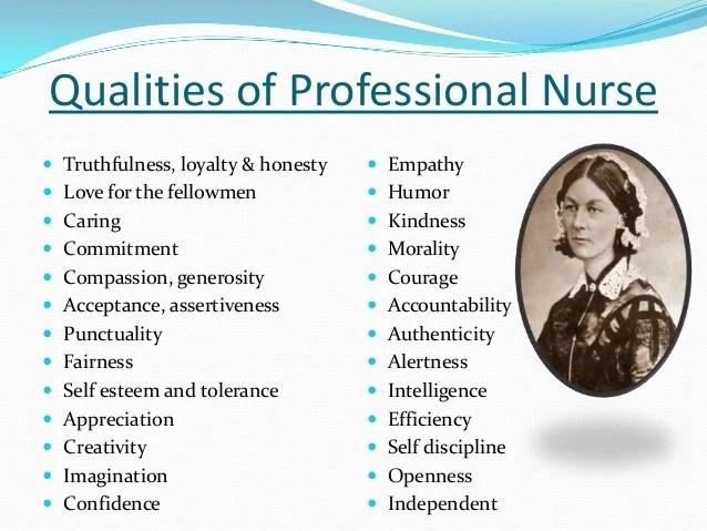 Characteristics of a nurse careercliff