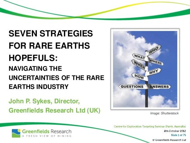 Seven Strategies for Rare Earths Hopefuls - Nov 2012 ...