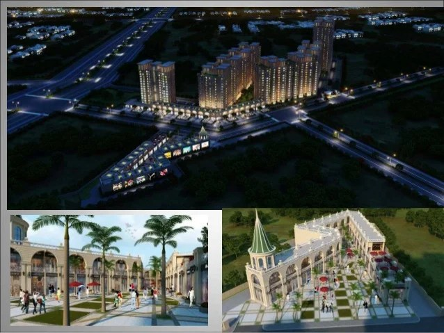 60 MTR wide Sector Road with 12 MTR service road Total 11 Towers Ten 2BHK towers One 3BHK* Tower Site Plan Signature Globa...