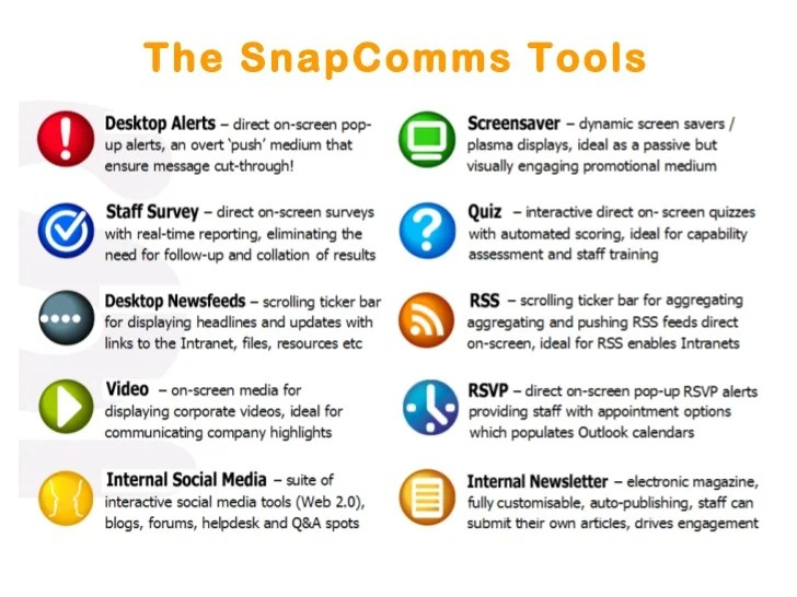 SnapComms Internal Communication Channels