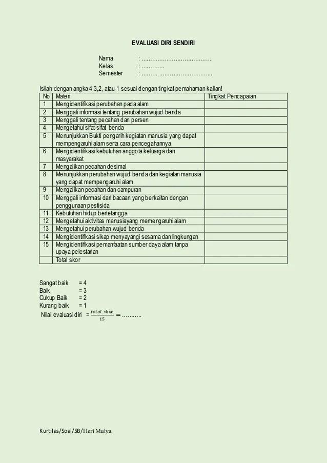 Doc kunci jawaban soal pas matematika sd kelas 4 5 dan 6. Soal Ulangan Sem 1 Kelas 5 Sd