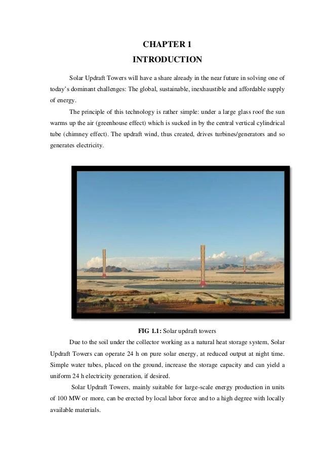 SOLAR UPDRAFT POWER PLANT