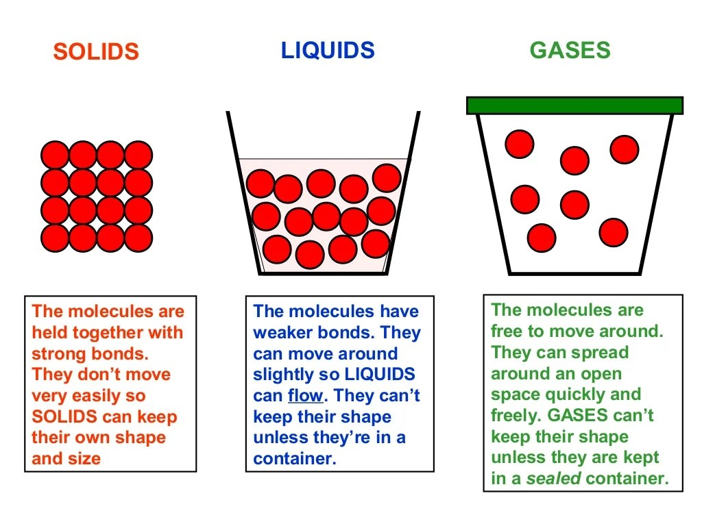 Solids Liquids Gases