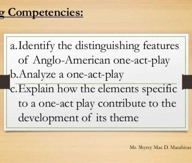Wrong Number By Lucille Fletcher Learning Competencies A Identify The Distinguishing Features Of Anglo American One Act