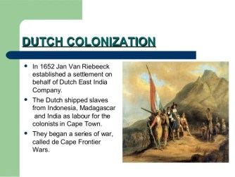 South africa colonisation
