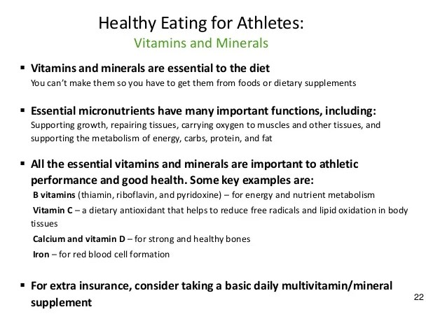 An Analysis of the Proper Nutrition and Recovery for ...