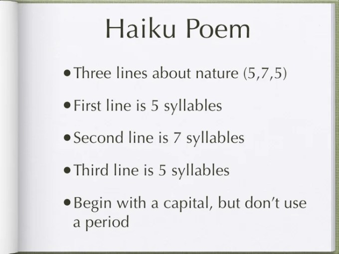 Haiku Poem Examples Image Collections Example Cover Letter For Resume