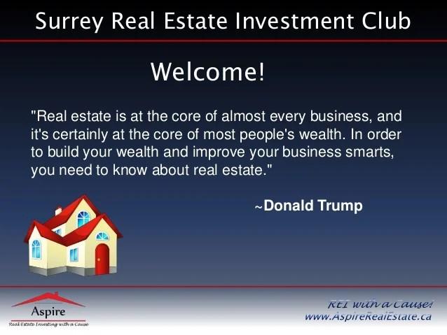 Surrey Real Estate Investors Club - Property Analyis ...