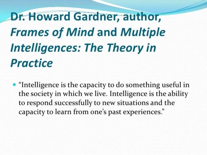 Howard Gardner Frames Of Mind The Theory Multiple Intelligences ...