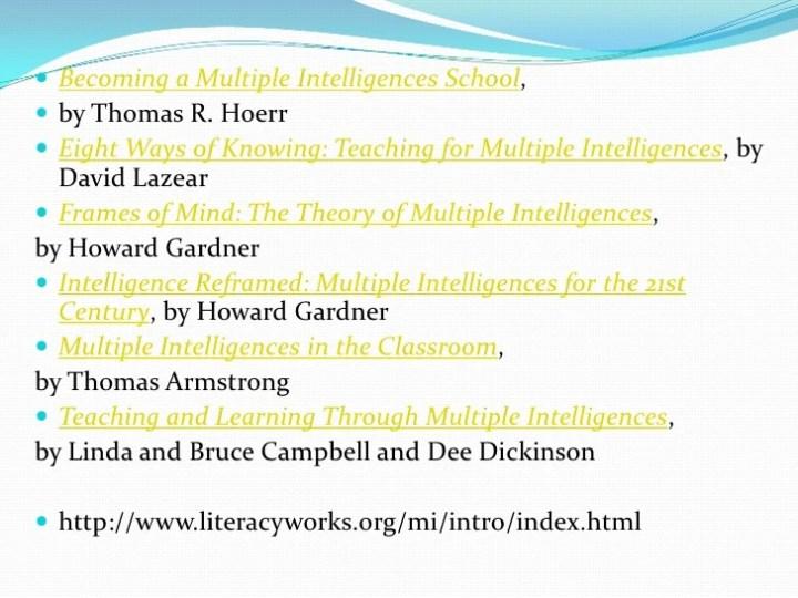 Gardner S 8 Frames Of Intelligence   Frameswall.co